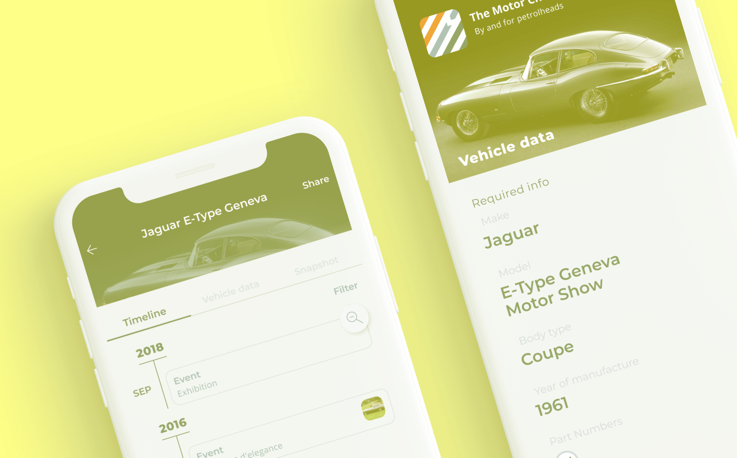 Tracing, tracking and confirming any classic vehicle's entire history of repairs and renovations.